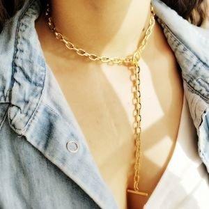 Jewelry - NEW Matte Gold Toggle Link Choker Necklace